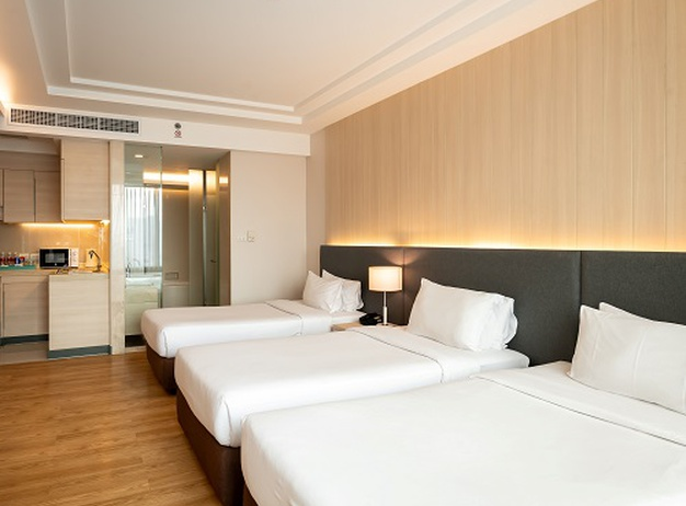 Triple single room Jasmine Resort Hotel en Bangkok