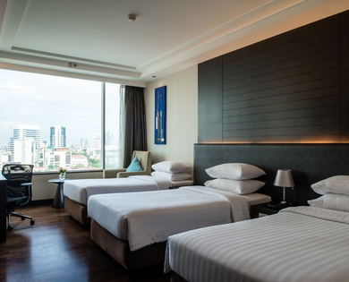 TRIPLE DOUBLE SINGLE ROOM Jasmine Resort Hotel en Bangkok